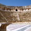 Interior view of the impressive North Theater. The theater was built in 165 AD and originally had only 14 rows. It was used for performances as well as city council meetings. In 235 AD the seating capacity was doubled to accommodate 1600 spectators.