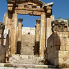 The gateway of a 2nd Century Roman Temple of Dionysus.