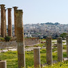 Another view of the modern apartment buildings which overlook the ancient city of Jerash.