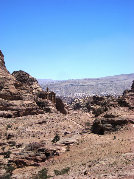 View of the Monastery from one of the summits.