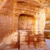 One of the numerous religious niches which can be seen in the Siq.
