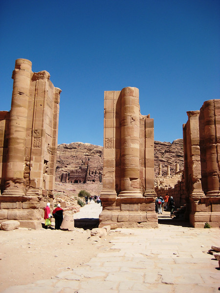 "Petra is often referred to as the ""Rose City."""