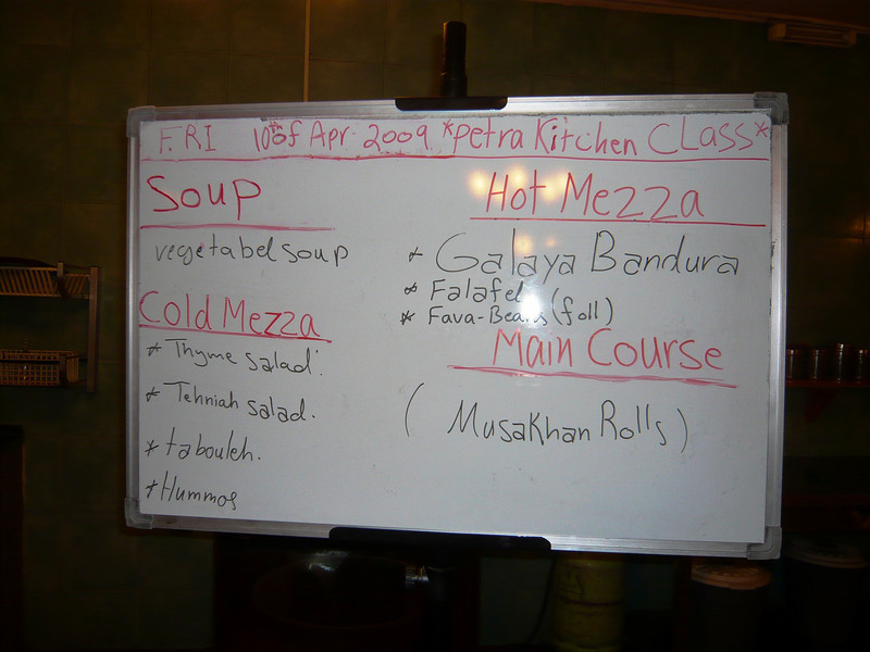 Here's a look at the cooking agenda for the evening...