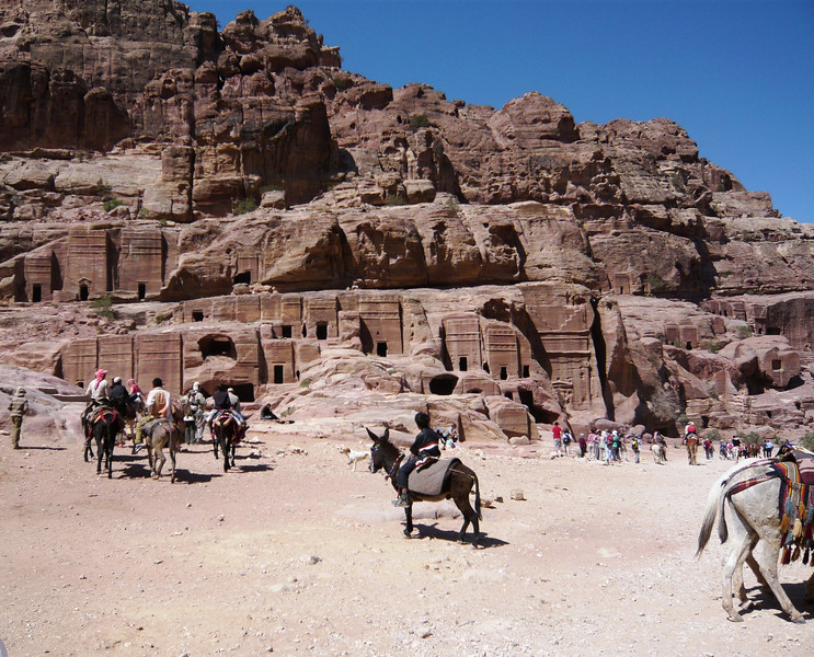 This might look like the ancient city of Petra but it is actually tombs. The majority of the city was destroyed during an earthquake but the tombs were carved to last throughout the afterlife and approximately 500 have survived.