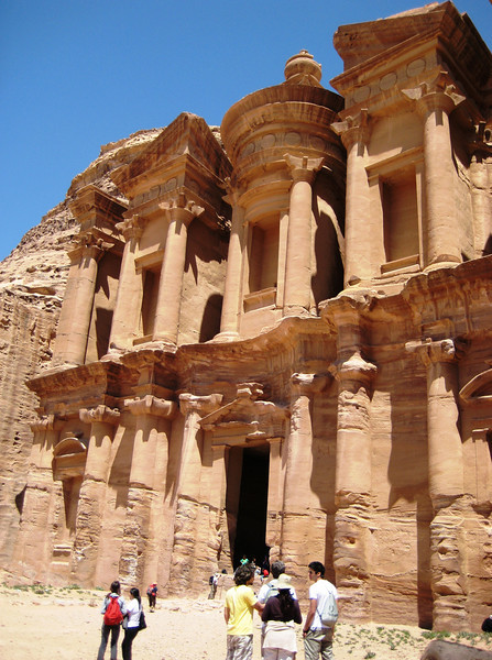 The Monastery, which is Petra's largest monument, dates from the 1st century BC. It was dedicated to Obodas I.