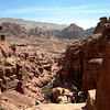 The long way down the 800 steps from the Monastery to the ancient city ruins of Petra.