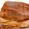 If you look closely as this natural worn piece of sandstone you can see the outline of a fish...