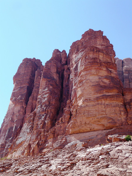 Part of the ever changing landscape of Wadi Rum.