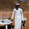 A local Bedouin who offered us some tea and a visit to their tent where local crafts such as jewelry could be purchased.