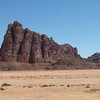 This rock formation was named the Seven Pillars of Wisdom in memory of T. E.Lawrence's book which he wrote in the aftermath of the the Arab Revolt of 1917–18. However,  the 'Seven Pillars' referred to in the book actually have no connection with Wadi Rum.