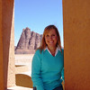 Me sitting in the viewing station at the visitor's center where you can have a bird's eye view of the surrounding area.
