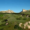 Scotts Bluff National Monument, Nebraska -view of Mitchell Pass, route of the Old Oregon Trail