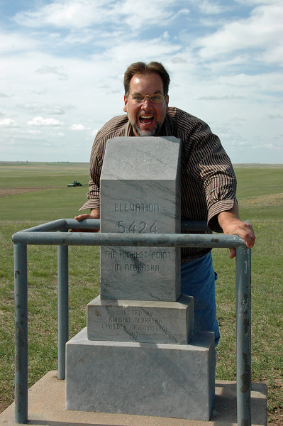 Chuck makes it to the Highest Point in Nebraska!!!