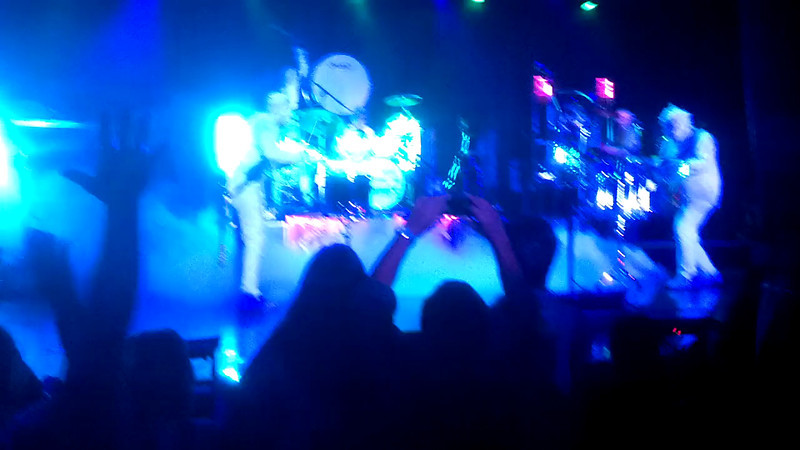 Four drummers on stage.