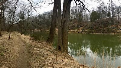 Petit sentier de randonnée le long de la Goose Creek