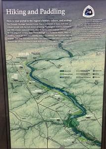 Randonnée à pied et en canot le long de la rivière Potomac.
