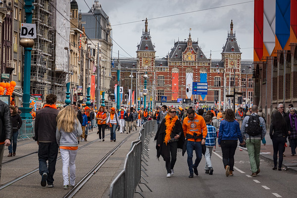 Queens Day Crowds, Amsterdam