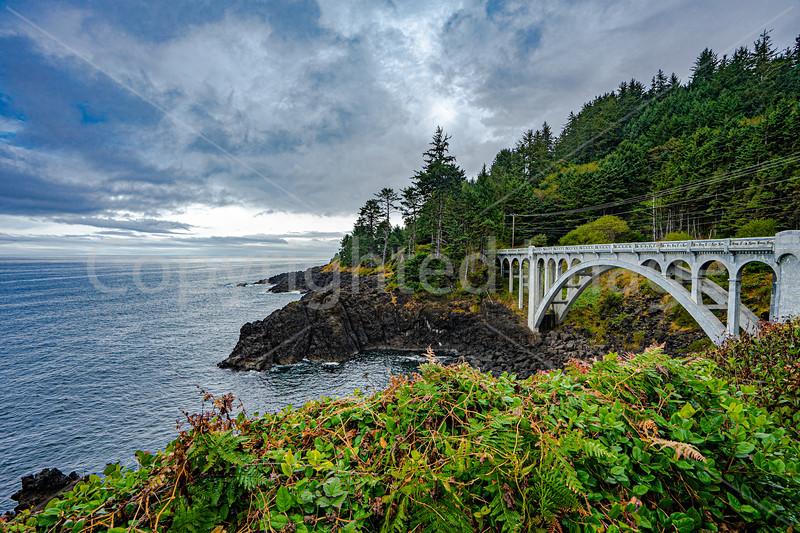 A bridge on the coast