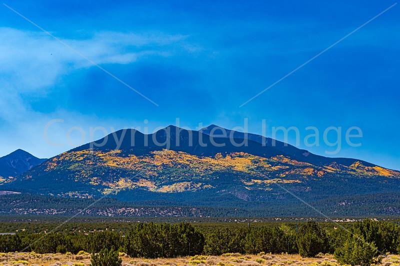 Autumn colors on San Francisco Peaks near Flagstaff