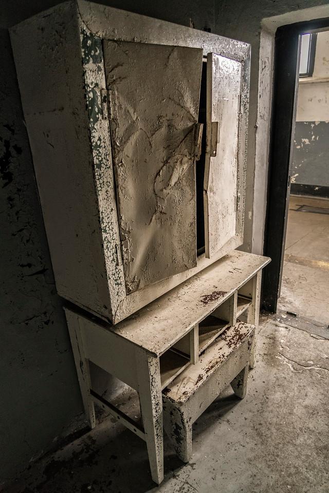 old cabinet in prison.
