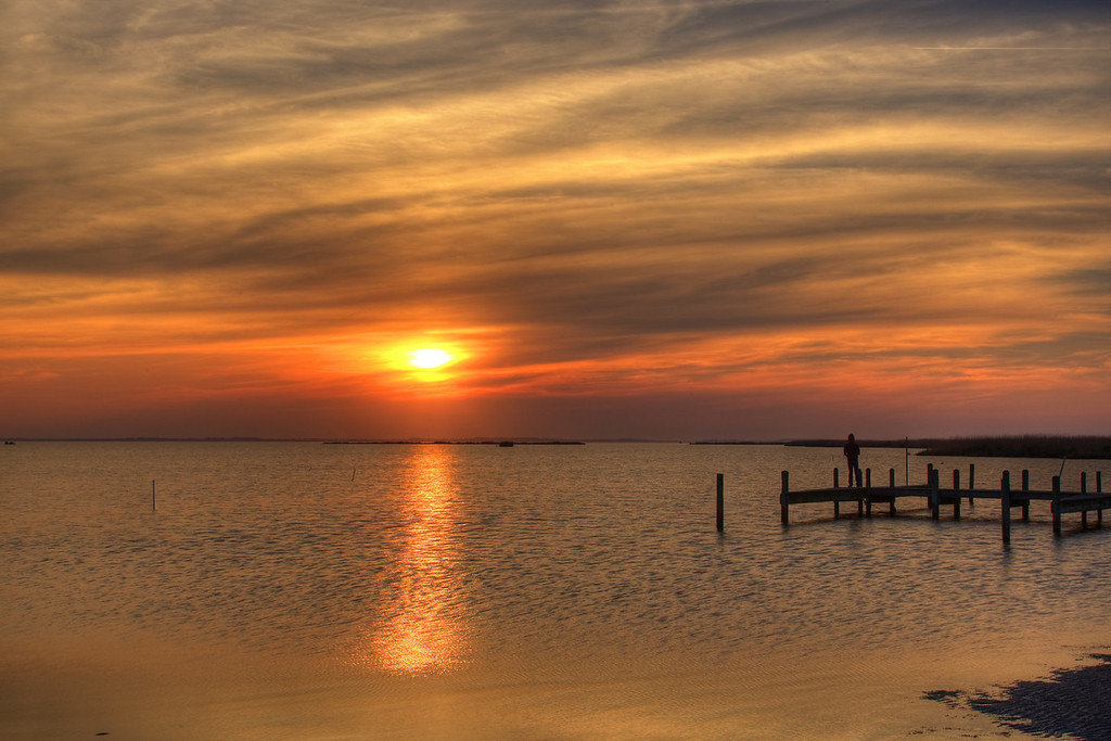 Sunset Fishing on Currituck Sound