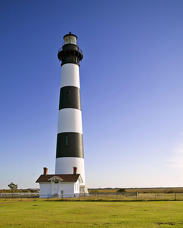 Bodie Ligthouse. Located in Oregon Inlet, NC