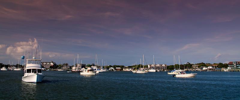 Silver Lake in Ocracoke Village on Ocracoke Island, NC