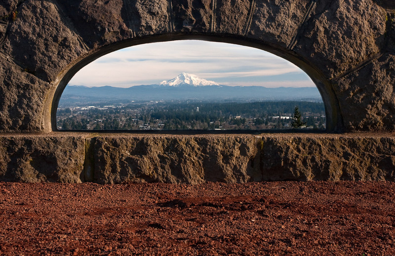 Mount Hood, from Rocky Butte State Park