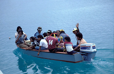 Local water taxi, Truk Lagoon. 1983