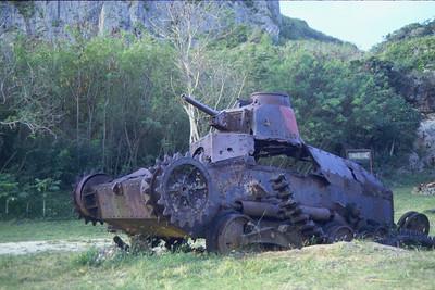 Saipan, Japanese tank. March 4, 1984