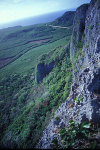 Saipan. Suicide Cliff from which hundreds of Japanese civilians jumped instead of surrendering to the advancing Americans during the battle of World War II. Visited on March 4, 1984