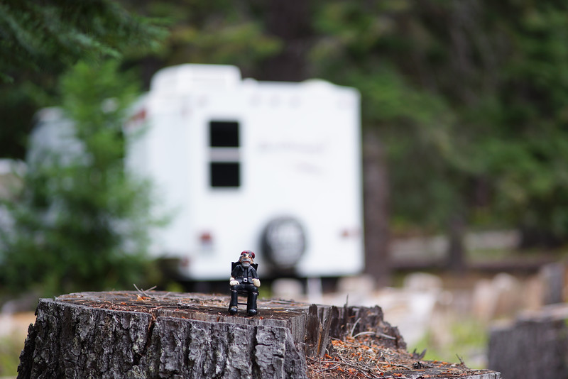 The Little Dude at Georges Camp Site near The Bumping River.