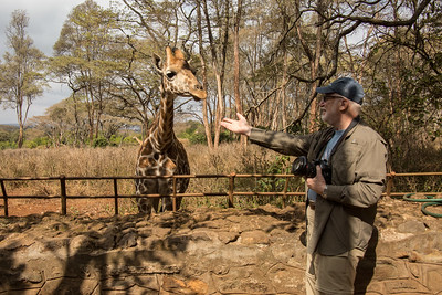 Steve at the Giraffe Center in Nairobi