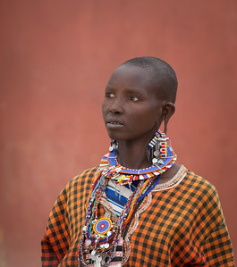 Maasai Woman outside of Amboseli National Park