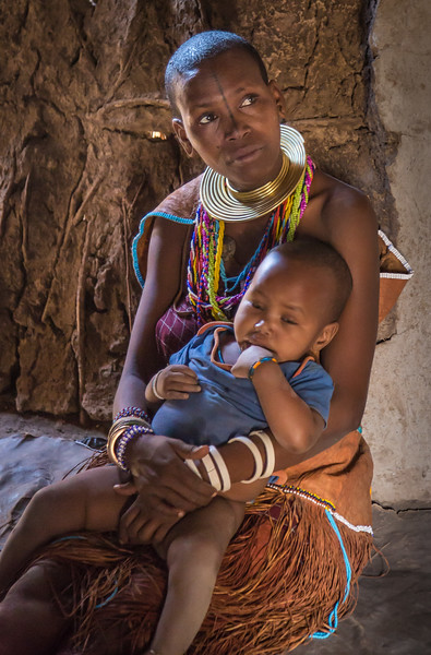 Bushman Mother and Child, Tanzania