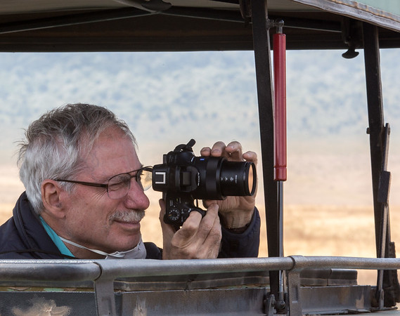 Mark taking some pictures at Ngorongoro Crater