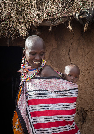 Maasai Woman with Baby at Amboseli