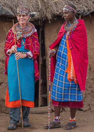 Gail in Maasai dress