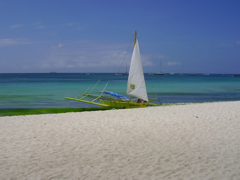 Yatch parked on beach - Boracay