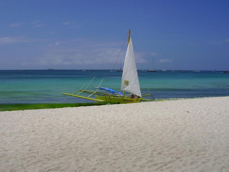 Yatch parked on beach - Boracay