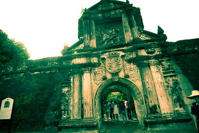 Main gate of Fort Santiago; The former military headquarters of the Spanish colonial government.