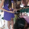 WAEVING MOM'S HAIR INTO A BRAID
