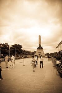 Rizal Monument with the statue of Jose Rizal in Rizal Park.