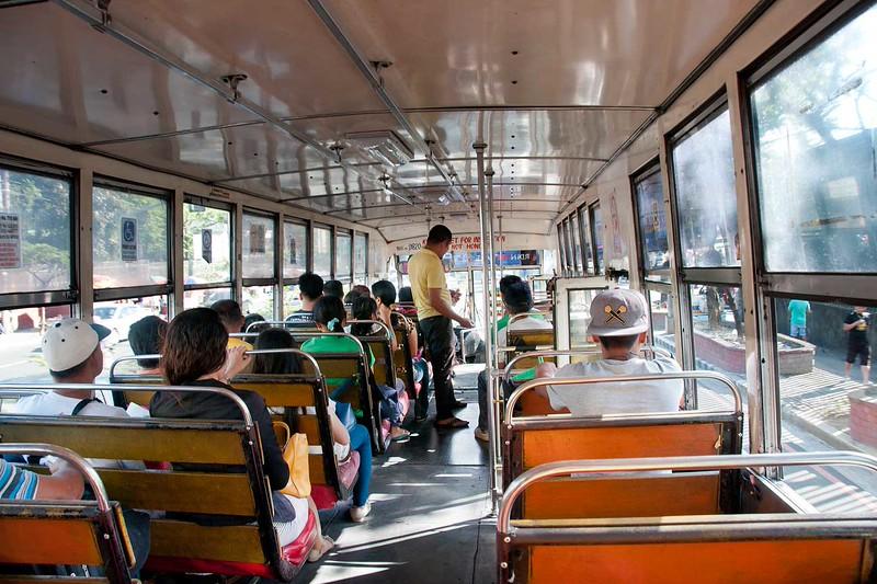 A CITY BUS IN MANILA PROPER
