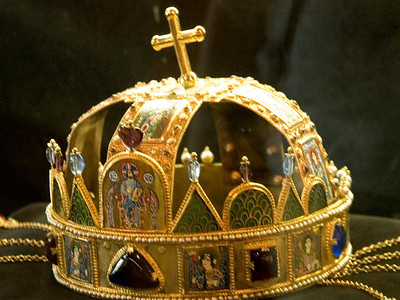 There is, so we are told, no special significance to the tilted cross on the national crown of Hungary. It was a gift from the pope to St. Stephen, and Federal Express damaged it in shipment.