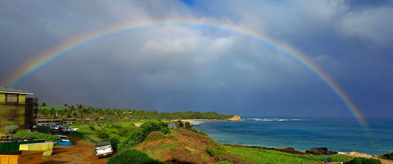 Rainbow over Keoneloa Bay