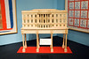 wooden scale model of the White House