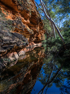 Reflections in Kings Canyon.