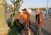 Coming ashore at Rudesheim