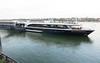 Tied to a dock in Bonn